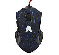 6 клавиш 800/1200 / 1600dpi снег точка яркий свет проводной игровой мыши