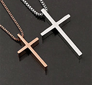 Unique Fashion Cross Titanium-Steel Pendant(Gold/Silver)(1Pc)
