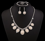 Z&X® Alloy Fashion Rhinestone/Pearl Jewelry Set Party/Wedding 1set(Including Necklaces/Bracelets/Earrings/Rings)