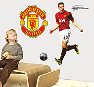 Exciting Soccer Manchester United Van Persie PVC Wall Sticker Wall Decals