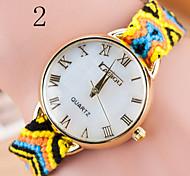 Damenuhren Damen Modespiegel gewebt Diamant-Uhr-Quarz Marmor Freizeituhr