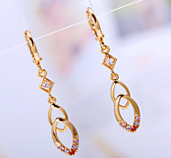 Women's Fashion High Quality  18K Gold Plated  Drop Water Earrings