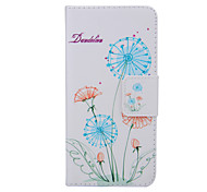 2015 The Newest Painted Dandelion Series Dandelion Floor PU Soft Case for iPhone 6 Plus