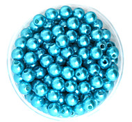 Beadia 64g(Approx 300Pcs)  ABS Pearl Beads 8mm Round Turquoise Color Plastic Loose Beads DIY Accessories