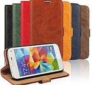 eleganten Retro-Lederkornlederkasten für Samsung-Galaxie s5 Mini (verschiedene Farben)