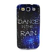 coco de la marche dans le motif de pluie TPU doux IMD de couverture de cas pour les Samsung Galaxy S i9300