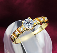 Z&X® 18K Gold Exquisite Rhinestone Statement Rings Party/Daily 1pc