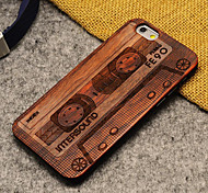 Pear Wood Apple Magnetic Tape Hard Back Cover for iPhone 6s/iPhone 6