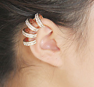 Fashion New Crystal Clip Earrings(1pc)(Left and Right Ears Also Can Wear)