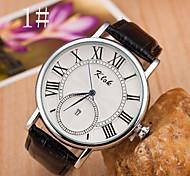 Herrenuhren Rom Schweizer Uhrenzifferblatt-Legierung Gurt-Uhr-Kalender. braune Augen
