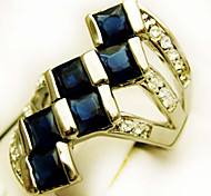 Size 8/9/10 High Quality Women Purple Sapphire Rings 10KT White Gold Filled Ring