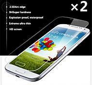 2pca 0.26mm ultrafino prima vidrio templado película protectora de pantalla a prueba de explosiones para Samsung i9500 Galaxy s4