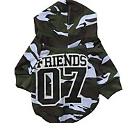 Cat / Dog Coat / Hoodie Green Dog Clothes Winter Camouflage Cosplay