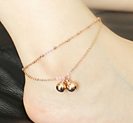 Fashion Sweet Bell Alloy Anklet
