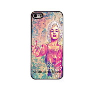 Personalized Gift Lovely Woman Design Aluminum Hard Case for iPhone 5/5S