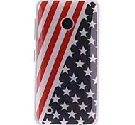 The American Flag Design TPU Soft Case for Nokia Lumia N530