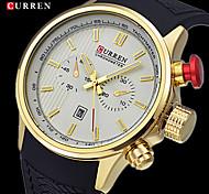 CURREN® Men's Army Design Casual Watch Japanese Quartz Rubber Strap