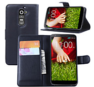 LG G2 Plastic / PU Leather Full Body Cases / Cases with Stand Graphic / Special Design case cover