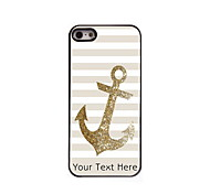 Personalized Gift The Golden Anchor Design Aluminum Hard Case for iPhone 5/5S
