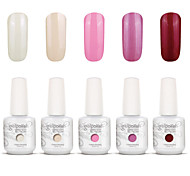 nail art gelpolish mergulhar off uv gel unha kit manicure gel cor polonês 5 cores definir S113