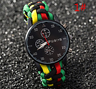 The New Men's Fashion Brand Watches Hot Watches Quartz Watch Braided with Three Color