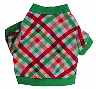 Lovely Christmas Grid Pattern T-Shirt for Pets Dogs (Assorted Sizes)