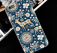 leuke cartoon patroon transparante TPU soft cover case voor Apple iPhone 4 4s geval