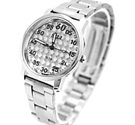 Women's Ladies Fashion Shiny Silver Band Watch