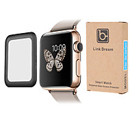 Link Dream Premium  0.2mm Real Tempered Glass with  Full Cover Metal Edge Screen Protector for  Apple Watch (38mm)