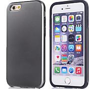 de lujo delgado del tpu armadura + PC caso antichoque para apple iphone 6 (color clasificado)