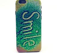 derramando patrón sonrisa tapa dura de plástico para el iphone 6