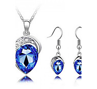 Z&X® Alloy Fashion Austrian Crystal Jewelry Set Party/Daily 1set(Including Necklaces/Earrings)