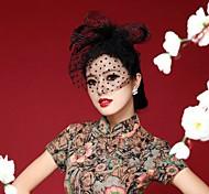 Handmade Chiffon Flower Feather Hair Accessories Bridal Wedding Fascinators Veil Mask