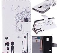 Couple Dandelion Pattern with Card Bag Full Body Case for Samsung Galaxy S5 I9600