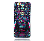 Beast Elephant Head Pattern TPU Soft Back Cover Case for iPhone 5/5S
