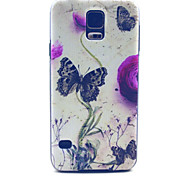Butterfly Pattern PC Hard Case for Samsung S5 I9600