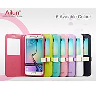 tampa articulada caso window view couro magnético ailun® ultra fino com suporte para Samsung Galaxy S6 bordo (cores sortidas)
