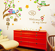 Wall Stickers Wall Decals,Owl Photo Frame PVC Wall Stickers