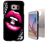 The Sexy Lip design Aluminum Hard Case for Samsung Galaxy S6