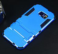 Apple Hard Case Protective Cover with Kickstand for Samsung Galaxy S6