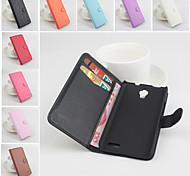Protective PU Leather Magnetic Vertical Flip Case for Alcatel one touch idol 6030(Assorted Colors)