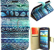 Ancient Figure Pattern with Card Bag Full Body Case for Samsung Galaxy S3 I9300