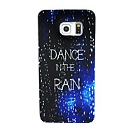 Tanz in der regen Muster slim TPU weicher Fall für Samsung-Galaxie s6