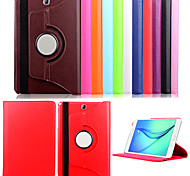 For Samsung Galaxy Case with Stand / Flip Case Full Body Case Solid Color PU Leather Samsung Tab A 9.7
