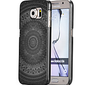 Magic Spider®Black Big Sunflower Pattern Ultra Thin Transpareny Hard Back Case Cover for Samsung Galaxy S6