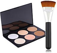 Pro Party 6 Colors Face Bronzing Powder Makeup Palette + Powder Brush