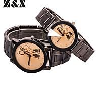 Couple's Fashion Lover Quartz Steel Belt Wrist Watch(Assorted Colors)