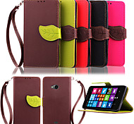 High Quality Wallet Card Holder PU Leather Flip Case Cover for Nokia Lumia 535(Assorted Colors)