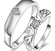 Angel Wing Love Couple Rings 2pcs