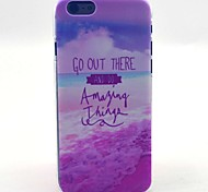 Go Out There Do Amazing Things Pattern Hard Case Cove for iPhone 6